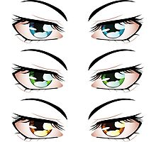 Cartoon male eyes 3 Photographic Print
