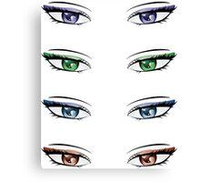 Cartoon female eyes Canvas Print