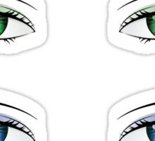 Cartoon female eyes Sticker