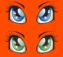 Cartoon female eyes 2 Kids Clothes