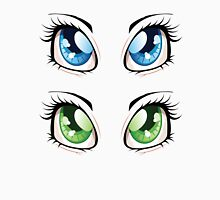 Cartoon female eyes 2 Womens Fitted T-Shirt