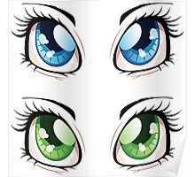 Cartoon female eyes 2 Poster