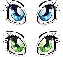 Cartoon female eyes 2 Photographic Print