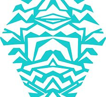 diamond - papercut pattern (aqua) by Sid's  Papercuts