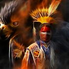 The Spirit of Honor~ A collaborative art with WayoftheWarrior by Sassafras