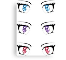 Cartoon female eyes 3 Canvas Print