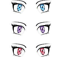 Cartoon female eyes 3 Photographic Print