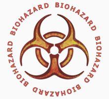 Biohazard Zombie Warning One Piece - Short Sleeve