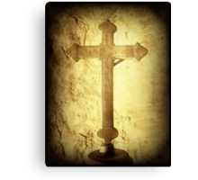 Cross at Mission San Buenaventura Canvas Print