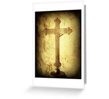 Cross at Mission San Buenaventura Greeting Card