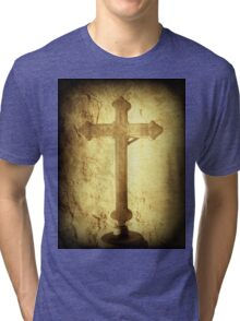 Cross at Mission San Buenaventura Tri-blend T-Shirt