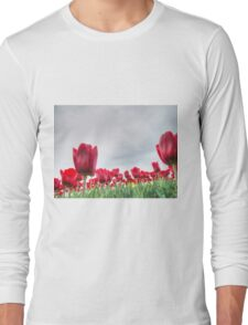 Red tulips 4 Long Sleeve T-Shirt