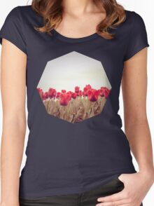 Red tulips 3 Women's Fitted Scoop T-Shirt