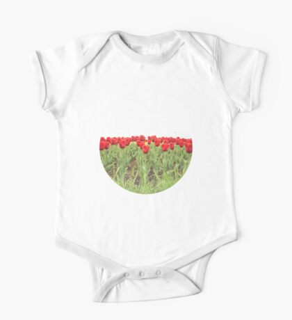 Red tulips 2 One Piece - Short Sleeve