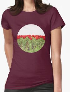 Red tulips 2 Womens Fitted T-Shirt