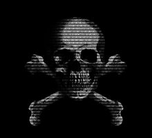 Hacker Skull and Crossbones by Packrat