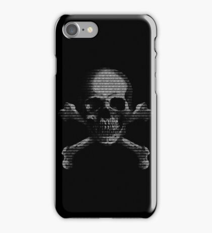 Hacker Skull and Crossbones iPhone Case/Skin