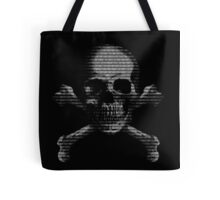 Hacker Skull and Crossbones Tote Bag