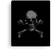 Hacker Skull and Crossbones Canvas Print