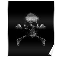 Hacker Skull and Crossbones Poster