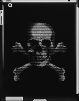 Hacker Skull and Crossbones by Packrat