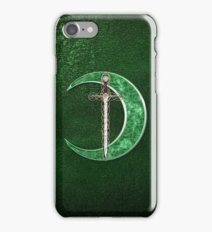 Green Celtic Moon iPhone Case/Skin
