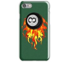 Flaming 8 Ball iPhone Case/Skin