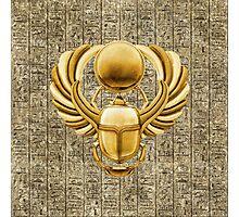 Gold Egyptian Scarab Photographic Print