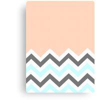 Color Blocked Chevron - Peach Canvas Print