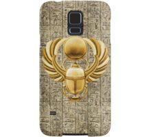 Gold Egyptian Scarab Samsung Galaxy Case/Skin