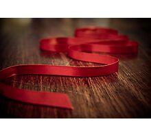 Ribbon Red Photographic Print
