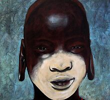 Mursi girl by Neil Elliott
