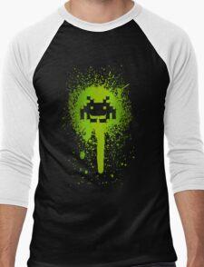 Space Blotch (Green ver.) Men's Baseball ¾ T-Shirt