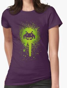 Space Blotch (Green ver.) Womens Fitted T-Shirt