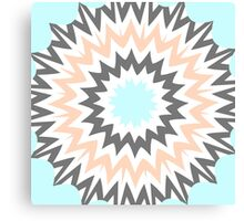 Baby Blue to Peach Canvas Print