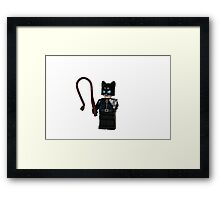 LEGO Catwoman Framed Print