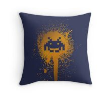 Space Blotch (Orange ver.) Throw Pillow