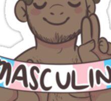 support masculine trans individuals!  Sticker