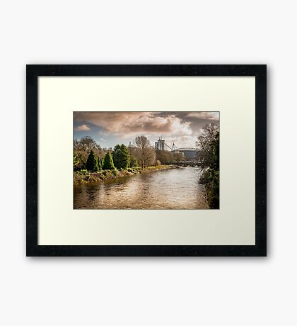 Storm over the Taff Framed Print