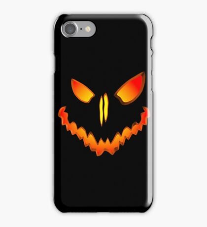 Spooky Jack O Lantern Face iPhone Case/Skin