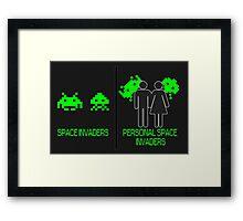 Personal Space Invaders (BG) Framed Print