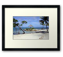Bitter End Beach Scene Framed Print