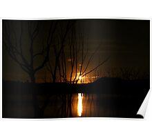 Moonrise - Lake Eildon Poster