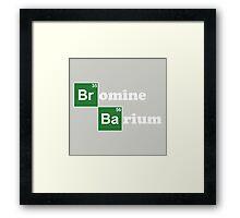 Breaking Chemistry Framed Print