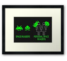 Personal Space Invaders (GG) Framed Print