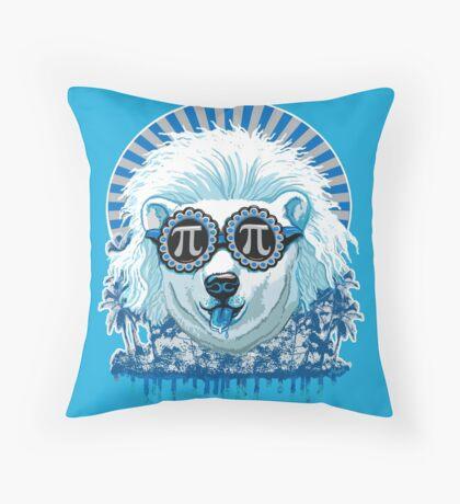 Pi Polar Bear Wearing Pi Day Shades Throw Pillow