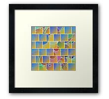 Colorful tiled puzzle Framed Print