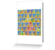 Colorful tiled puzzle Greeting Card