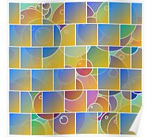 Colorful tiled puzzle Poster