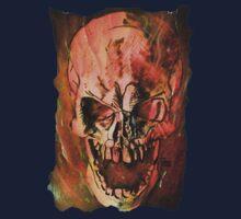 Flaming Skull Kids Tee